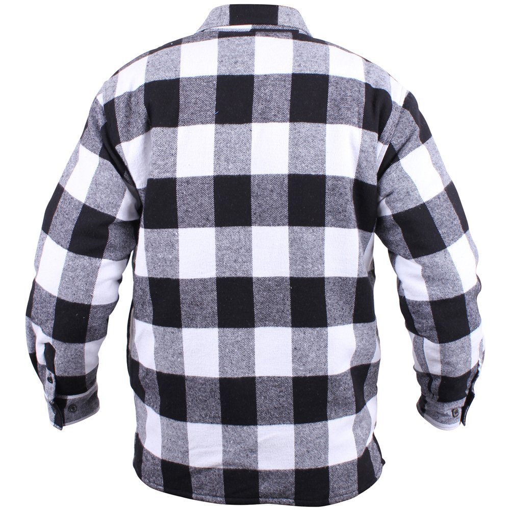 Mens Extra Heavyweight Buffalo Plaid Sherpa Lined Flannel