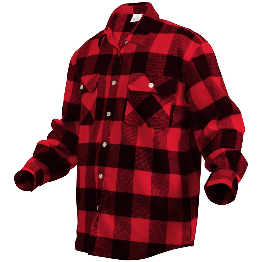 Mens Extra Heavyweight Buffalo Plaid Flannel Shirts